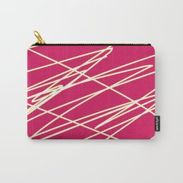 Pink and white Carry-All Pouch