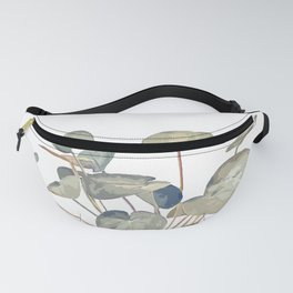 Pilea plant in white Fanny Pack