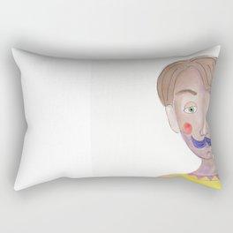 Cartoon Style Man - Mr blue moustasche Rectangular Pillow