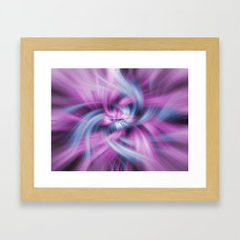 Purple and Blue Light Waves Framed Art Print