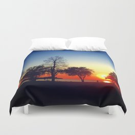 Happy in CLE Duvet Cover