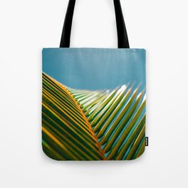 green and turquoise Tote Bag