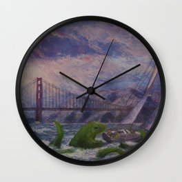 Seamonster's Lunch Wall Clock