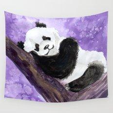 Panda bear sleeping Wall Tapestry