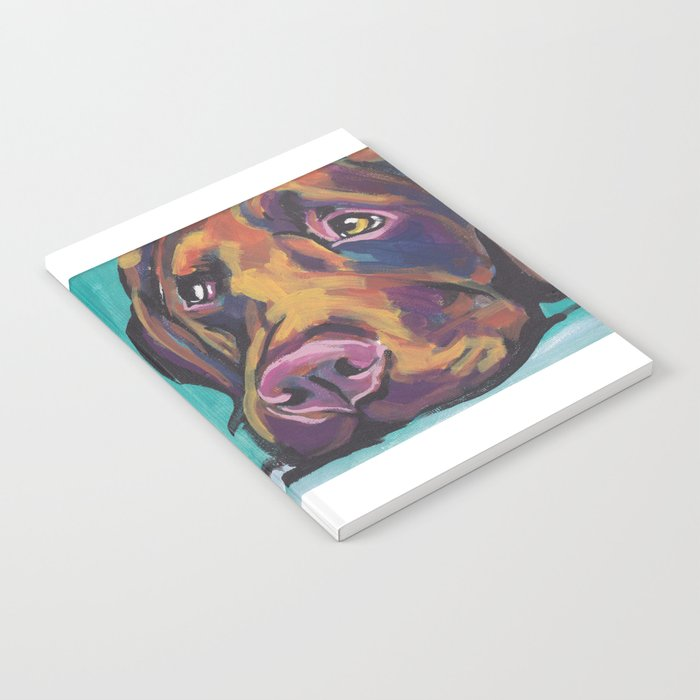 03f808c9 Fun Chocolate Lab Dog bright colorful Pop Art Labrador Notebook by ...