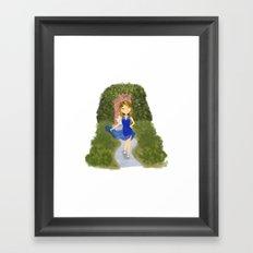 Mia Blue Dress Framed Art Print