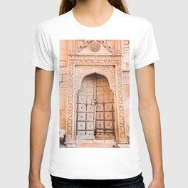 Wooden Door in the Golden City Jaisalmer in Rajasthan, India   Travel Photography   T-shirt