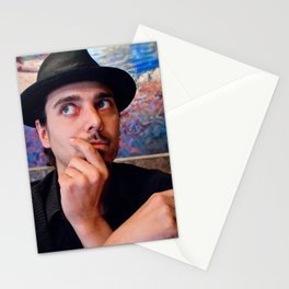 Self Portrait With Glasses and Hat Stationery Cards