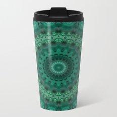 Turquoise kaleidoscope Metal Travel Mug