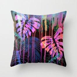 Drippy Jungle {acid} Throw Pillow