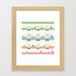 Jar of sweets Framed Art Print