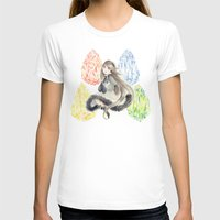 agnes T-shirts featuring Bravely Default Agnes & Crystals Watercolor by Aini