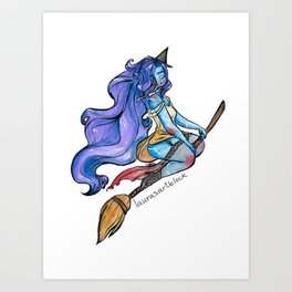 Pin-Up Witch Art Print