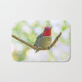 Anna's Hummingbird on a Twig Bath Mat