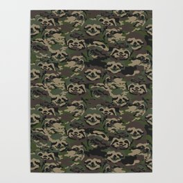 Sloth Camouflage Poster