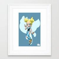 powerpuff girls Framed Art Prints featuring Bubbles - The Powerpuff Girls by zeoarts
