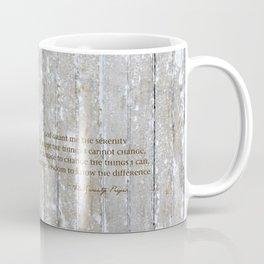 SERENITY PRAYER: BROWN BARN Coffee Mug