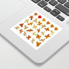 Orange Peel Party Sticker