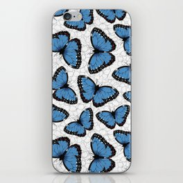 Blue morpho butterflies iPhone Skin
