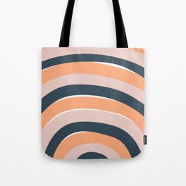 Rainbow stripes minimal art Tote Bag
