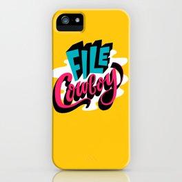 File Cowboy iPhone Case