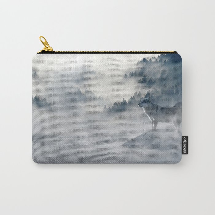 Wolves Among the Snowcaped Mountain Carry-All Pouch