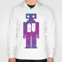 robots Hoodies featuring Robots by Scar Design