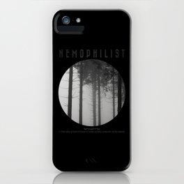Nemophilist V iPhone Case