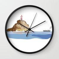 ship Wall Clocks featuring Ship by Julia Brnv