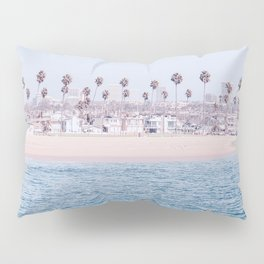 Vintage Newport Beach Print {3 of 4} | Photography Ocean Palm Trees Cool Blue Tropical Summer Sky Pillow Sham