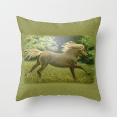 Lonely Gallop Throw Pillow