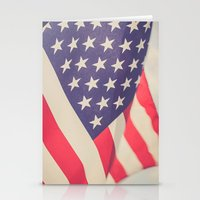 american flag Stationery Cards featuring American Flag by Leah M. Gunther Photography & Design