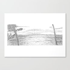 Beach Pointillism Canvas Print