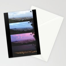 New York Skyline Portrait Time Frames Stationery Cards