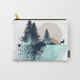 Watercolor Sunrise Carry-All Pouch
