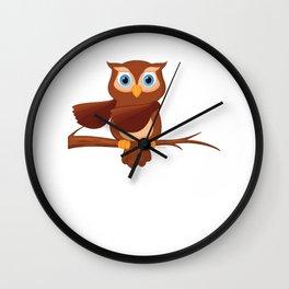 Floss Dance Move Owl Wall Clock