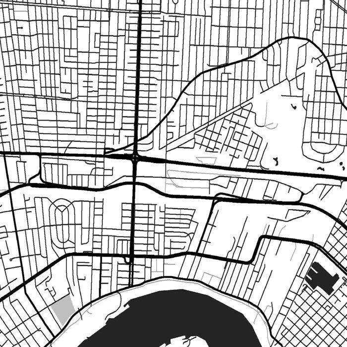 New Orleans Map Gray Leggings