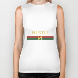 hustle designer hustle Biker Tank