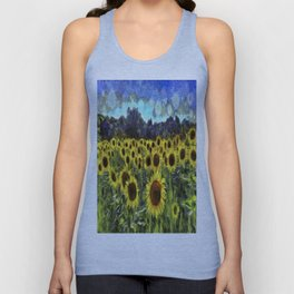 Sunflowers Van Goth Unisex Tank Top