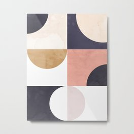 Geometric Moontime 1 Metal Print