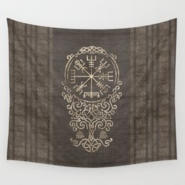 Vegvisir and Tree of life  - Yggdrasil Wall Tapestry