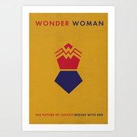 WonderWoman Alternative Minimalist Poster Art Print