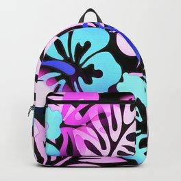 Hawaiian Flowered Shirt Print Pink Blue Backpack