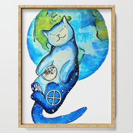 Earth Cat Serving Tray