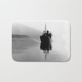Fjord ship Bath Mat