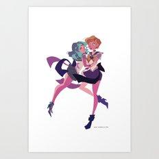 Uranus and Neptune Art Print