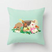 relax Throw Pillows featuring Relax by Reg Silva / Wedgienet.net