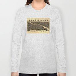 Vintage Map of Rockford Illinois (1891) Long Sleeve T-shirt