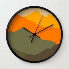 Sunset geometric landscape Wall Clock