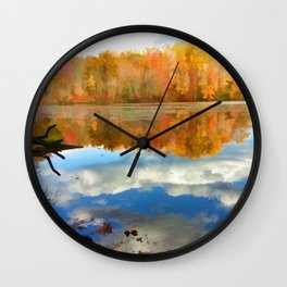 French Creek Colors Wall Clock